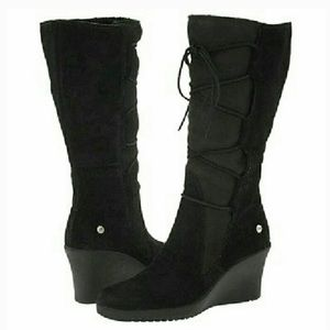 UGG Elsey Black Lace Up Boots